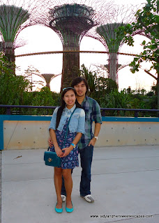 Ed and Lady inside GArdens by the Bay