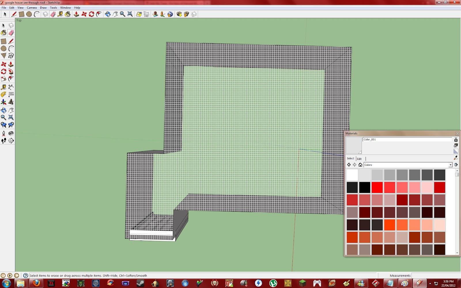 Now that my roof was un-hidden I could then begin work on my door. First thing I needed to do was mark out the door frame which was really easy because all ...  sc 1 st  Lacaraitu0027s Google Sketchup and Inkscape & Lacaraitu0027s Google Sketchup and Inkscape: The door!