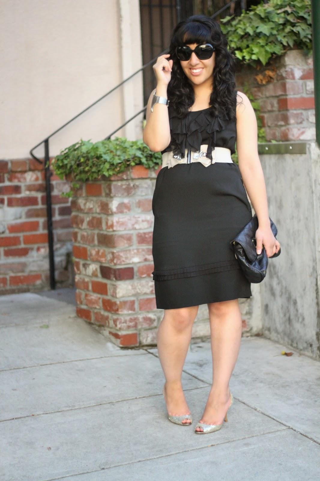 DVF Black Demeta Dress