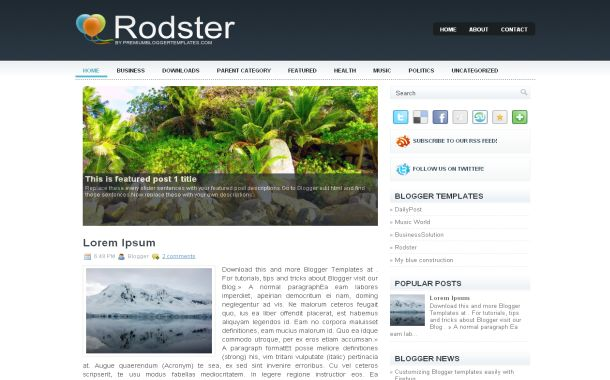 Silver Business Jquery Free Blogger Theme Template