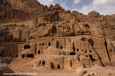 Calle de las fachadas Petra - Viaje a Jordania