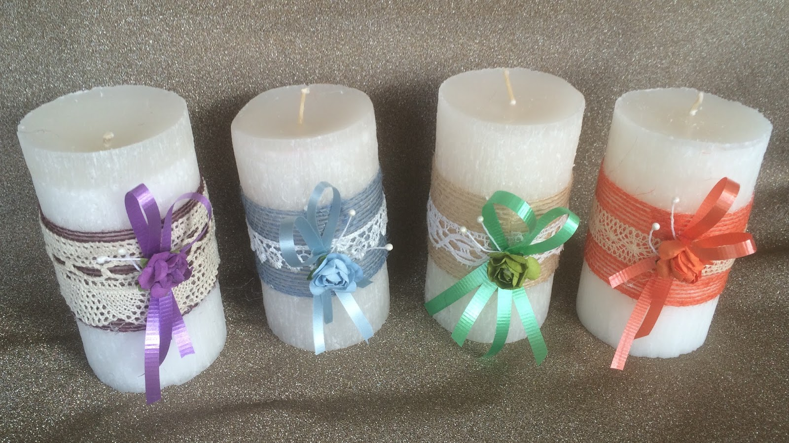 Detallesfel velas para regalo - Velas decoradas para bautizo ...