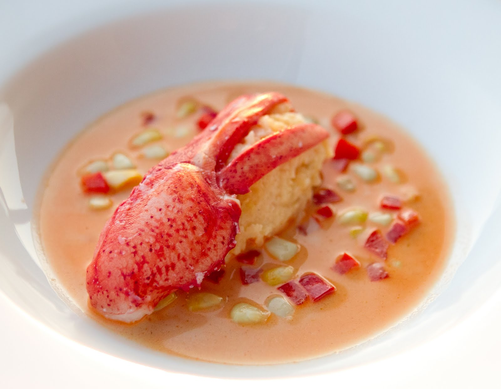 Sous vide lobster claw with sauce Américaine | My Family Table