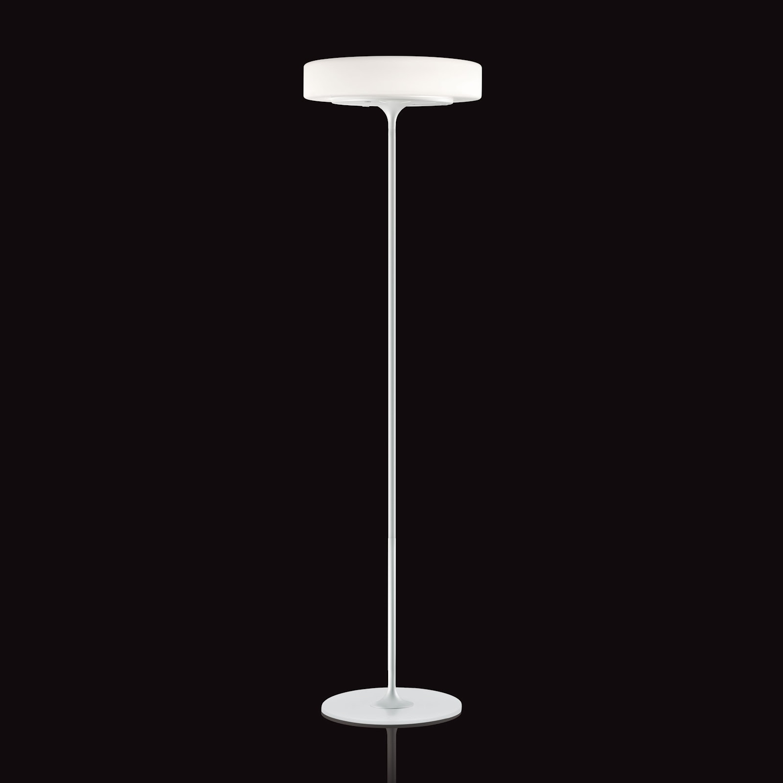 Ultra modern kundalini glass eero floor lamp with slender for Modern contemporary floor lamp
