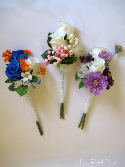 Silk Wedding Flowers 62 Good Lace Wrapped Hand Tied