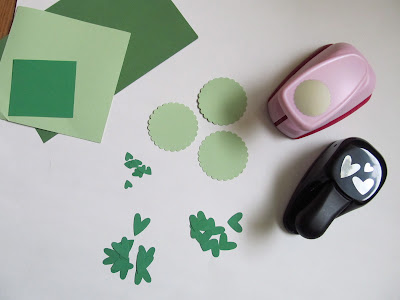 St. Patrick's Day Paper Tags - punched paper