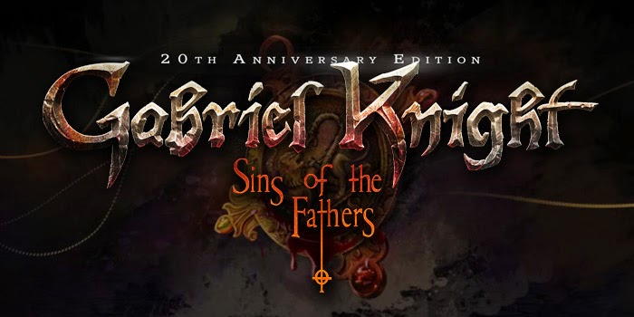 Gabriel Knight Sins of the Fathers 20th Anniversary title