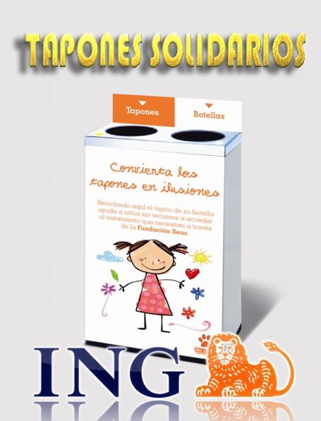 Proyecto tapones solidarios ING y Seur