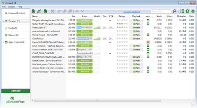 Latest uTorrent 3.2.1 Screenshot