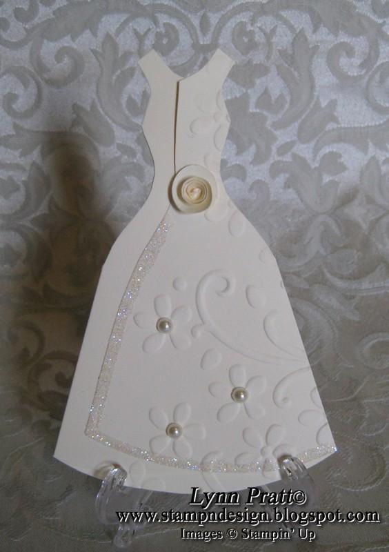 Tri-Fold Wedding Dress Card   Stamp-n-Design Store