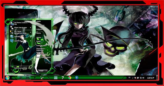 Dead Master / Black Rock Shooter [ Theme Win 7 ] 1