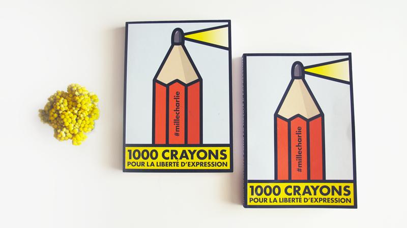 1000 crayons pour la liberté d'expression #jesuischarlie
