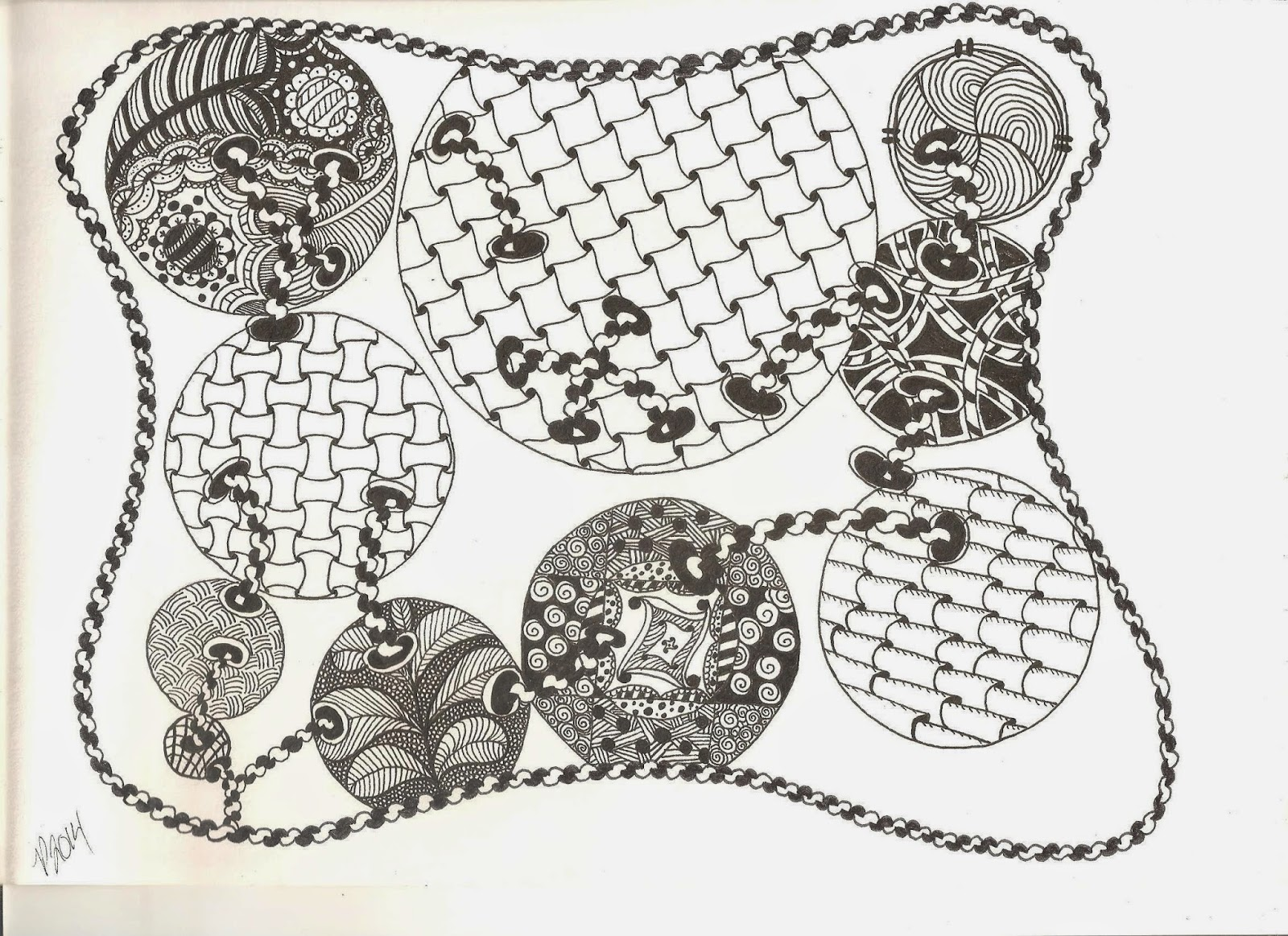 circles, zentangle, zentangle inspired art,