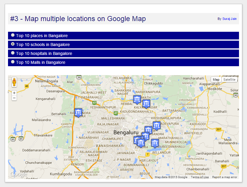 Programming Logic Map Multiple Locations On Google Map - Google maps multiple locations