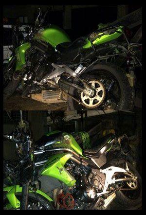 Foto Motor Gede Ustad Jefri Al Bukhori Setelah Kecelakaan