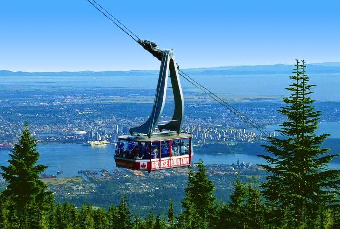 El Skyride de Grouse Mountain en Vancouver