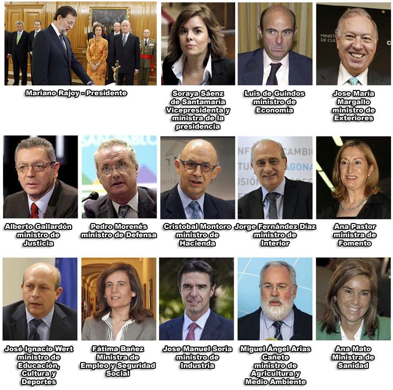 Altavoz no solo noticias los 12 1 ministros de rajoy for Ministros del gobierno