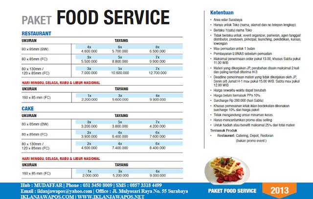 Jawa Pos Iklan Paket Food Service 2013