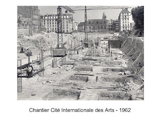 Construction de la cité internationale des Arts en 1962