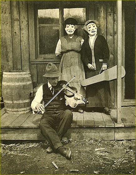 Vintage Halloween Scene Photo