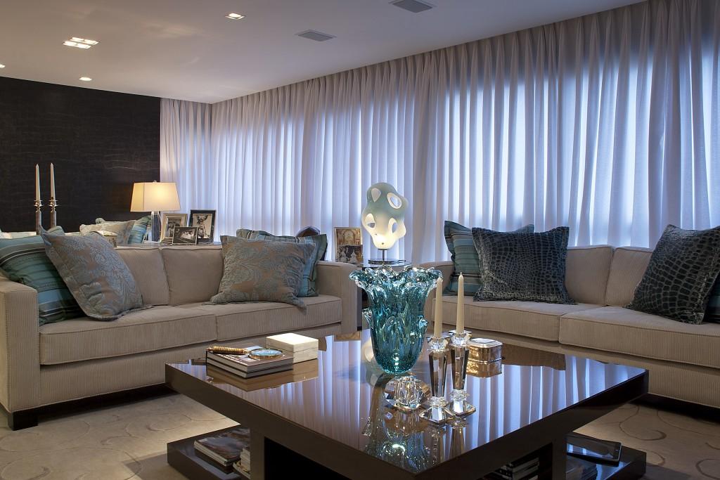 Sala De Tv Marrom E Azul ~  decoração  veja ambientes lindos decorados e dicas!  DecorSalteado