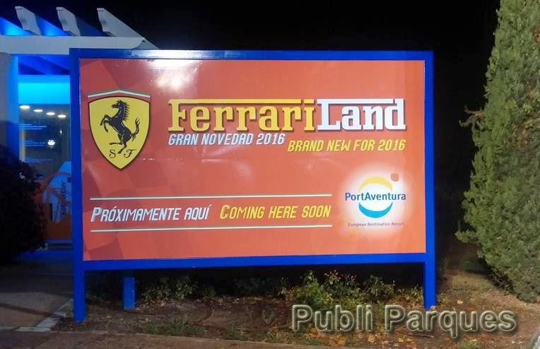 Valla de Ferrari Land en PortAventura