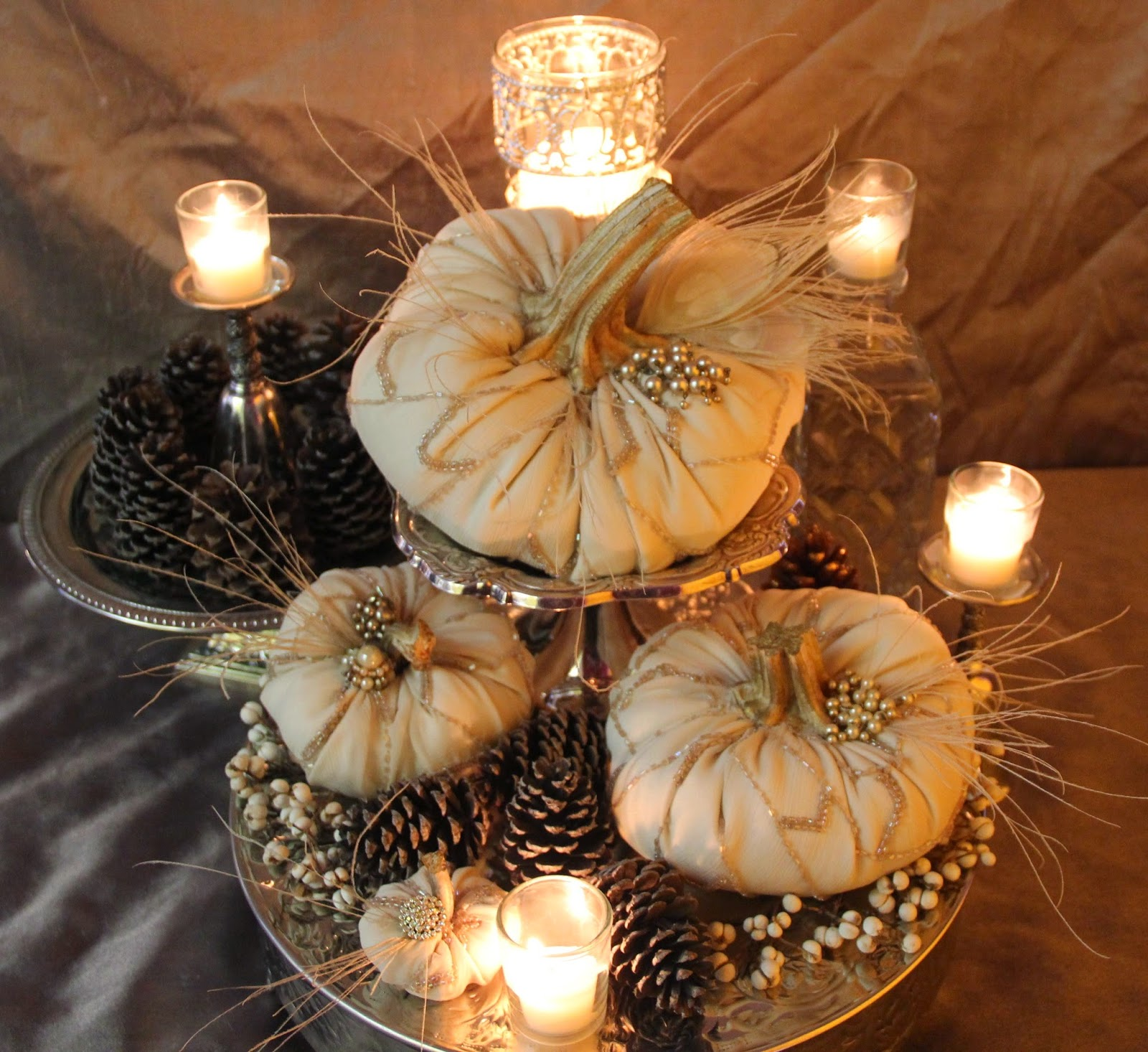 Vintage, Paint and more... Ornate Splendor's Elegant White Pumpkins