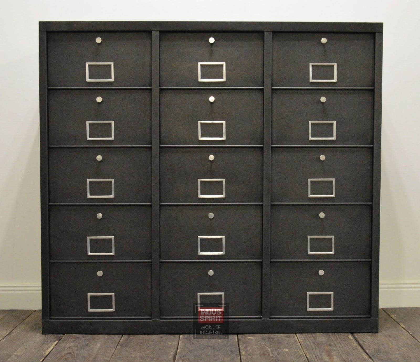 meuble clapet industriel. Black Bedroom Furniture Sets. Home Design Ideas