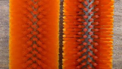 直狀毛料與波浪狀毛料植毛後比較