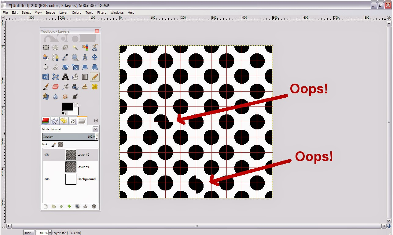 GIMP Repeating Pattern How To
