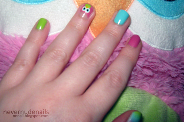 Never Nude Nails Quot Big Owl Quot Skittles