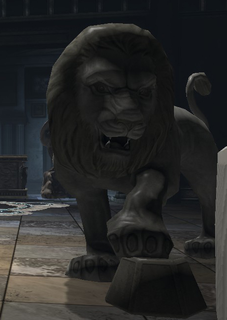 Prowling Lion Statue