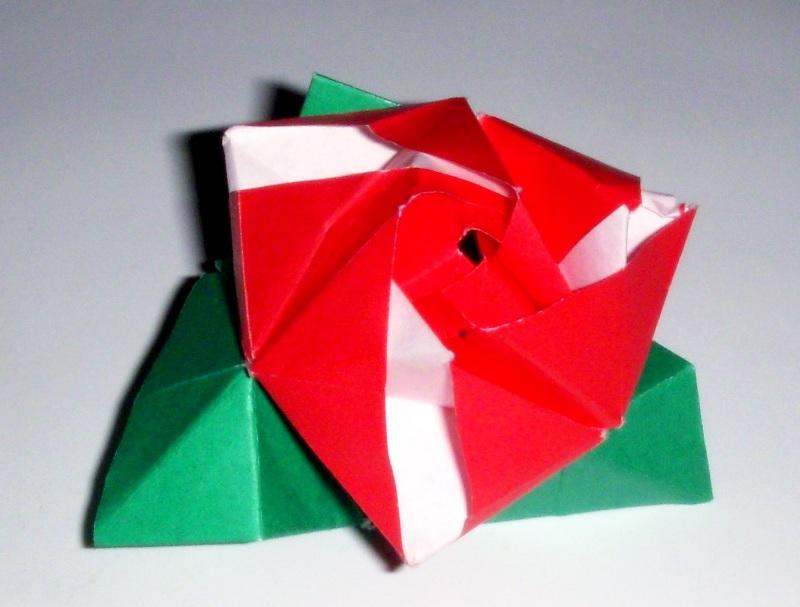 origami origami rose cube