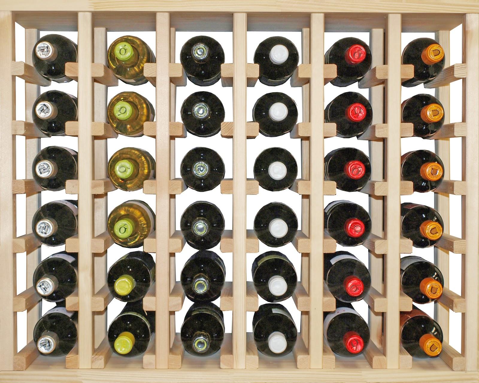 Botelleros muebles y estuches para el vino consejos para - Botelleros de madera rusticos ...