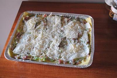 oggi lasagne zucchine e speck!