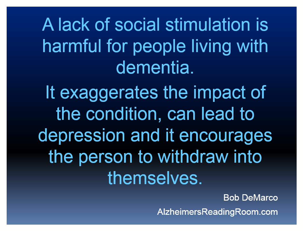 Alzheimer's Reading Room Quote