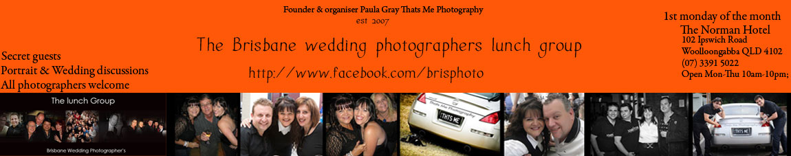 The Brisbane wedding photographers lunch group