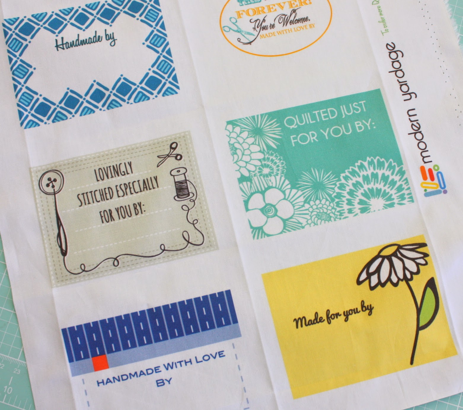 It is a picture of Selective Printable Quilt Labels