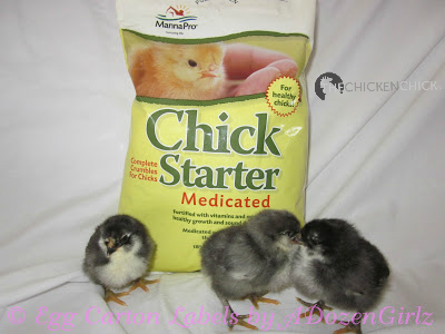 Medicated chick starter feed.