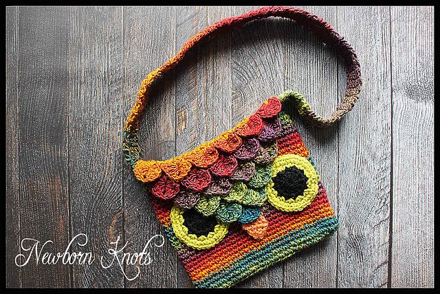 Tangled Happy Crocodile Stitch Owl Bag