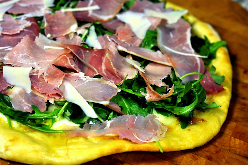 White Pizza with Fresh Arugula and Prosciutto | Taste As You Go