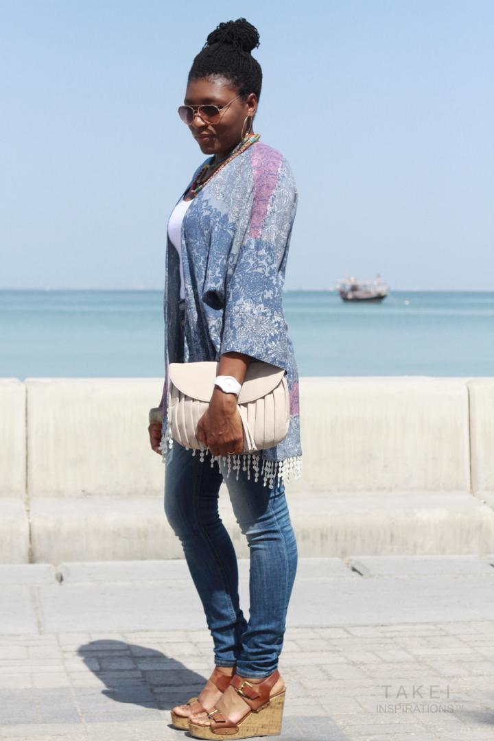 How to style a kimono top