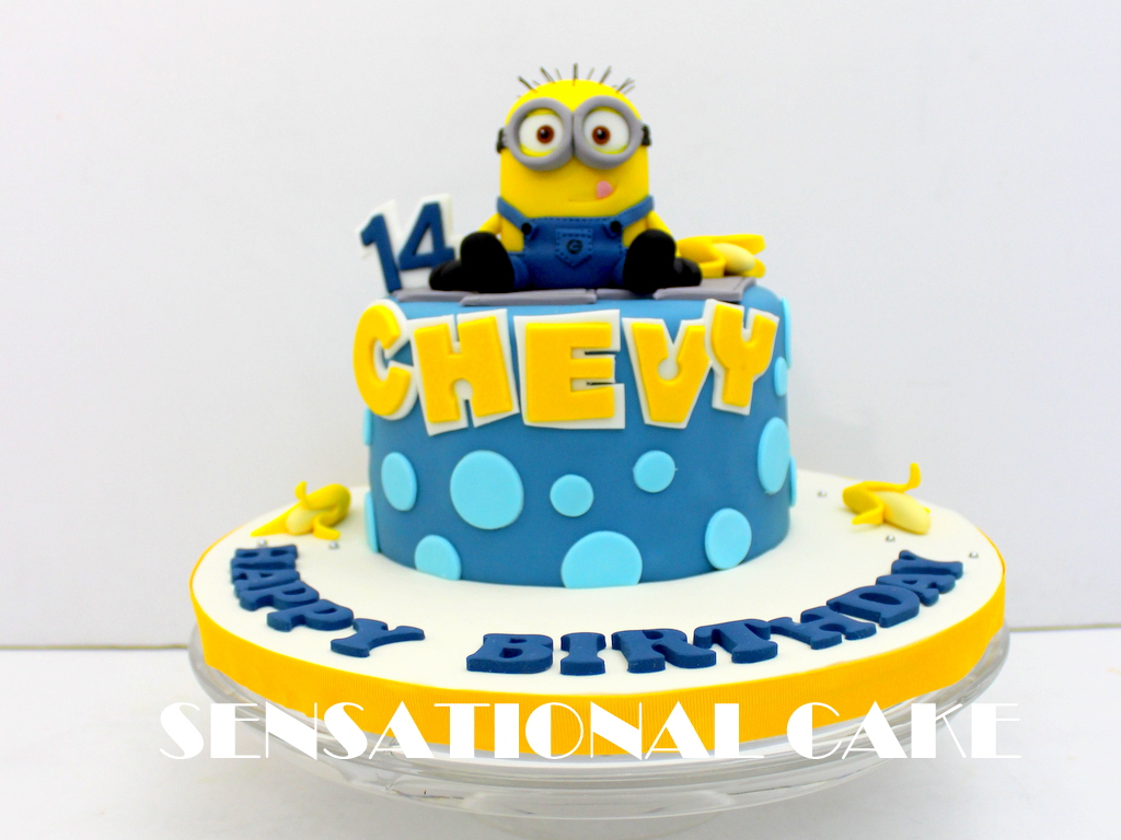 The Sensational Cakes LATEST DESIGN BIBBLES MINIONS BLUE THEME MINI