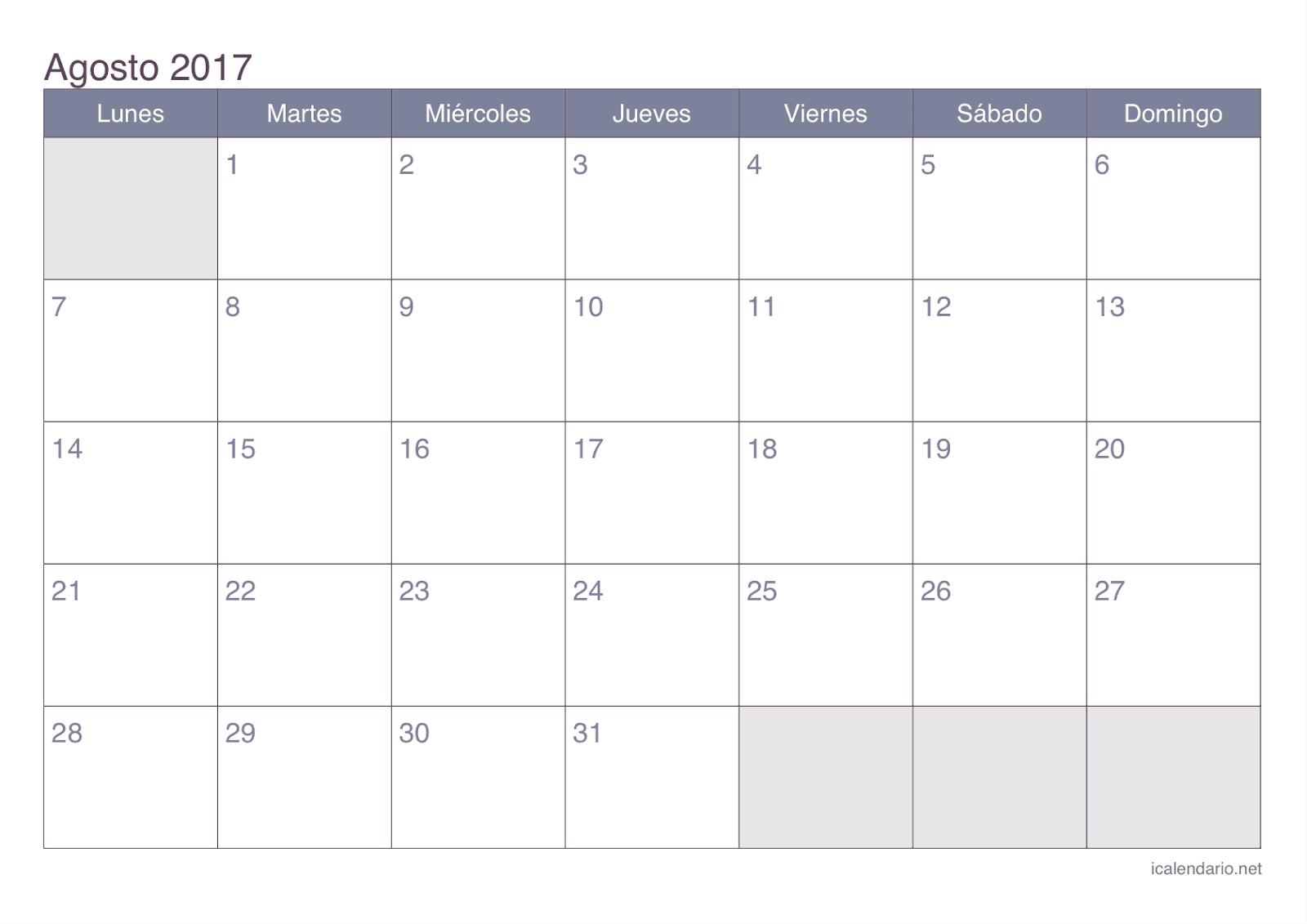 Calendario de actividades y evaluaciones.