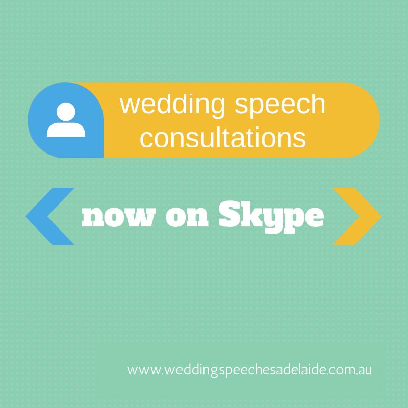 Best Man speech, Groom speech, Father of the Bride speech, Bride speech