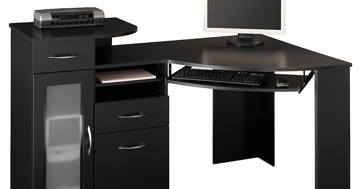 black desk black corner desk. Black Bedroom Furniture Sets. Home Design Ideas