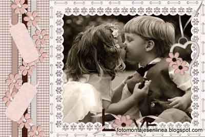 fotomontaje marco de amor