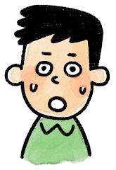 男性の表情のイラスト(驚き)