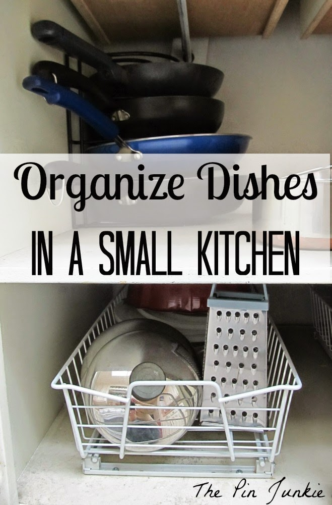 organize dishes in small kitchen