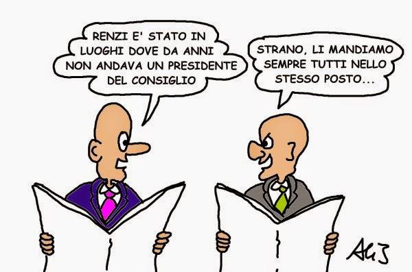 renzi, vignetta satira